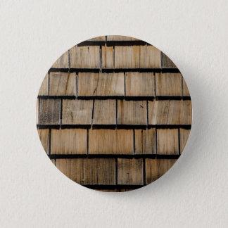 Holzschindel Runder Button 5,1 Cm