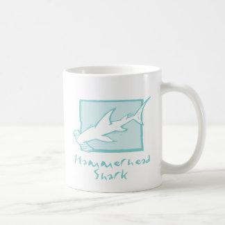 Holzschnitt-Hammerhai-Haifisch Kaffeetasse