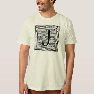 """Holzschnitt Woodblock Initiale der Holztype-""""J"""" T-Shirt"""