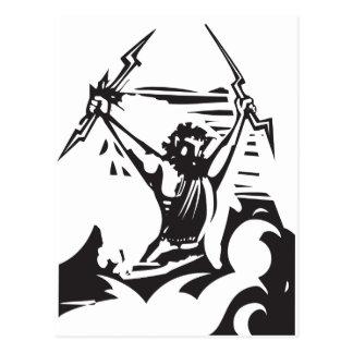 Holzschnitt Zeus Postkarte