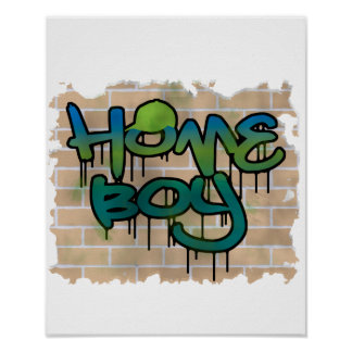 Homeboy-Graffitientwurf Poster