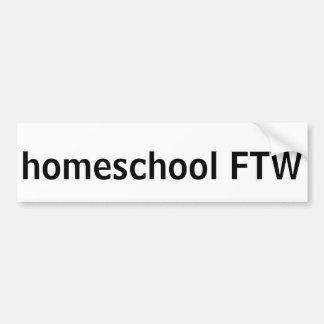 Homeschool FTW Autoaufkleber