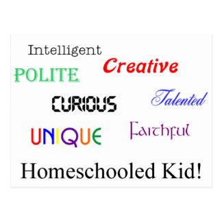 homeschool Kind 2 Postkarte