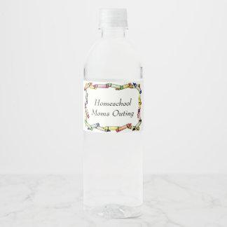 Homeschool Mammen Wasserflaschenetikett