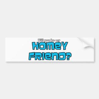 Homey Freund Autoaufkleber