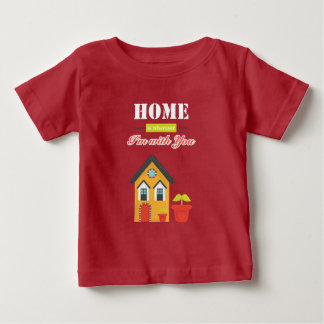 homie is wherever, i am with you baby t-shirt