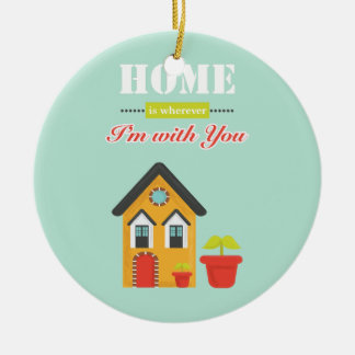 homie is wherever, i am with you keramik ornament