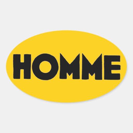 Homme Mann-Menschheits-Menschlichkeits-französisch Stickers