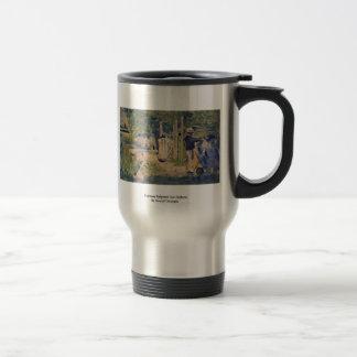 Homme Peignant SohnBateau durch Seurat Georges Kaffee Tassen