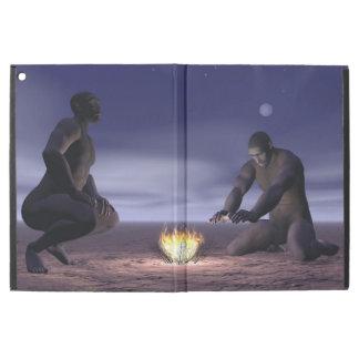 Homo erectus und Feuer - 3D übertragen