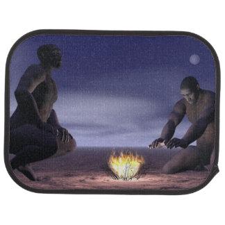 Homo erectus und Feuer - 3D übertragen Automatte