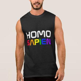 Homo Sapien Gay Pride-Regenbogen Ärmelloses Shirt