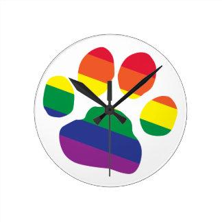 Homosexuell-Stolz-Tatze-Druck Runde Wanduhr