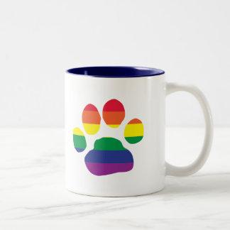 Homosexuell-Stolz-Tatze-Druck Zweifarbige Tasse