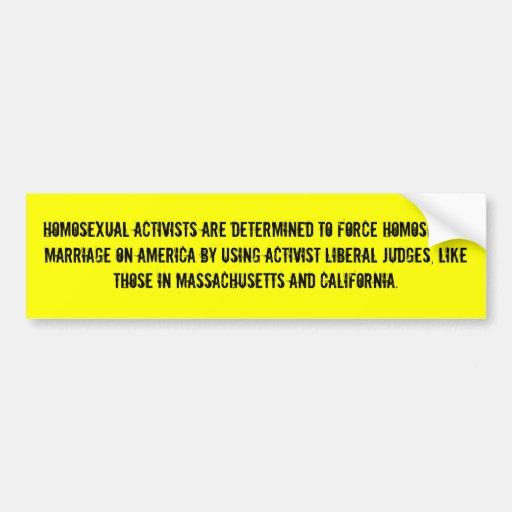 Homosexuelle Aktivisten werden bestimmt, um zu zwi Auto Sticker