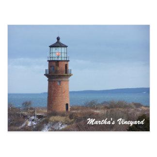 Homosexuelle Hauptleuchtturm-Martha's Postkarte