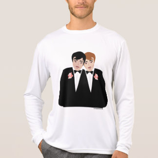 Homosexuelle Heirat-Bräutigam-T - Shirt
