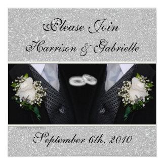 Homosexuelle Hochzeit/zivile Quadratische 13,3 Cm Einladungskarte