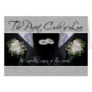 Homosexuelle Hochzeit/zivile Grußkarte