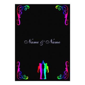 Homosexuelle Hochzeits-Einladung -