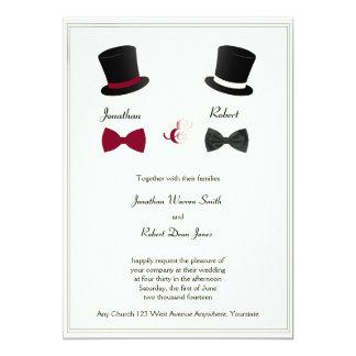 Homosexuelle Hochzeits-Einladung Karte