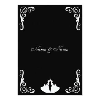 Homosexuelle Hochzeits-Einladung - Lesbe - zwei 12,7 X 17,8 Cm Einladungskarte