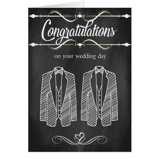 Homosexuelle Hochzeits-Glückwunsch-Karte