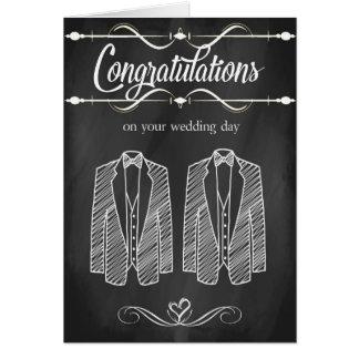 Homosexuelle Hochzeits-Glückwunsch-Karte Grußkarte