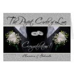 Homosexuelle Hochzeits-Glückwunsch-personalisierte