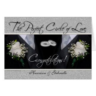 Homosexuelle Hochzeits-Glückwunsch-personalisierte Grußkarte