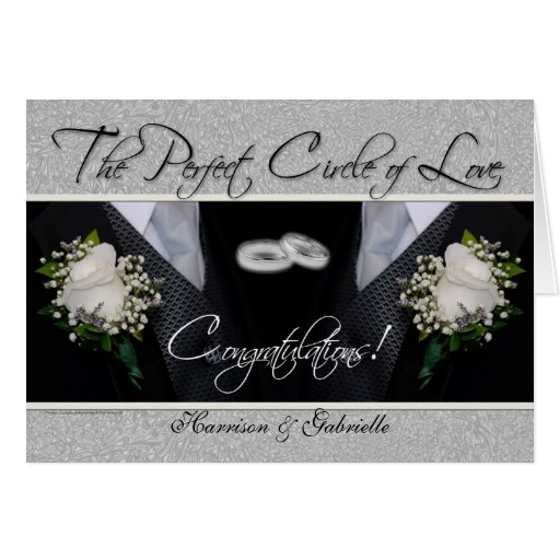 Homosexuelle Hochzeits-Glückwunsch-personalisierte Karten