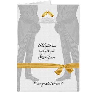 Homosexuelle Hochzeits-Glückwünsche zwei Bräutigam Grußkarte