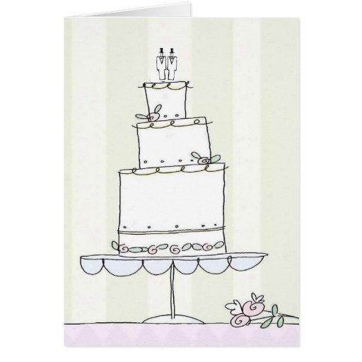 Homosexuelle Hochzeits-Glückwunschkarte Grußkarten