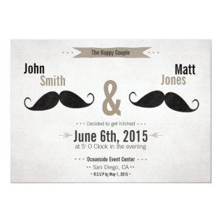 Homosexuelle Hochzeits-Schnurrbart-Einladung