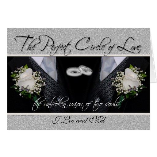 Homosexuelle Hochzeits-/zivile Gewerkschafts-kunde Grußkarten