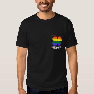Homosexuelle Iren Sunnyside Taschendunkelheit T-Shirts