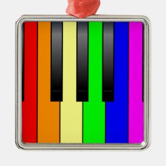 Homosexuelle Klavier-Schlüssel Transportes Quadratisches Silberfarbenes Ornament