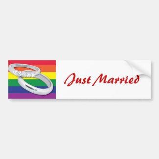 Homosexuelle lesbische Hochzeit Autoaufkleber