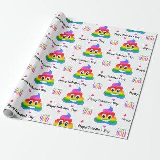 Homosexuelle Liebe kacken Verpackungspapier emoji Geschenkpapier
