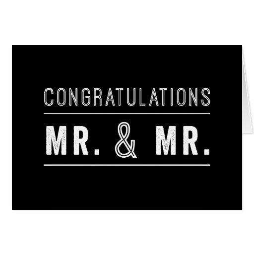 Homosexuelle Paar-Hochzeits-Glückwunsch-Karte