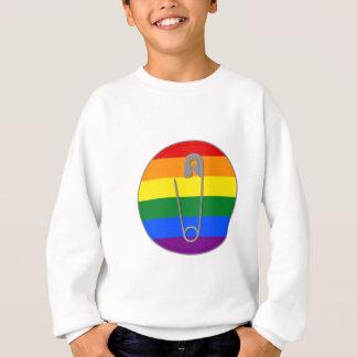 Homosexuelle Recht-Sicherheits-Button Sweatshirt