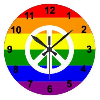 Homosexuelle Regenbogenflagge Friedenszeichen Uhr