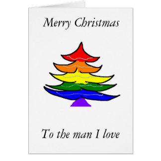 Homosexuelle Weihnachtskarte Karte