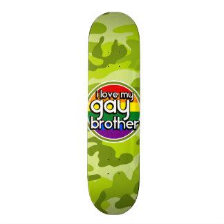 Homosexueller Bruder hellgrüne Camouflage Individuelles Skateboard
