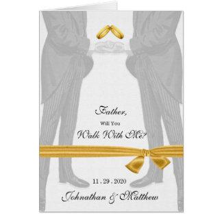 Homosexueller Hochzeits-Weg mit mir Bräutigame des Grußkarte