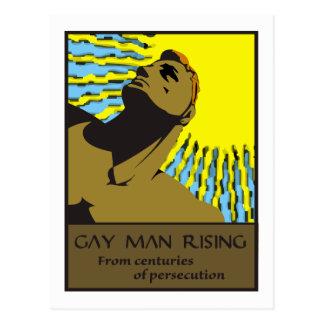 Homosexueller Mann steigende 2 Postkarte