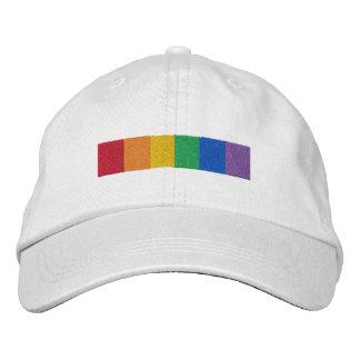 Homosexueller Regenbogen-Stolz-Flaggen-Streifen Bestickte Baseballcaps