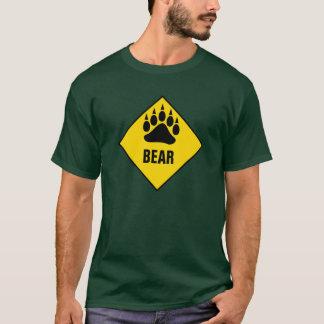 Homosexuelles Bärn-Bärenpranke-Gelb-Verkehrsschild T-Shirt