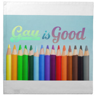 Homosexuelles ist guter Entwurf Stoffserviette