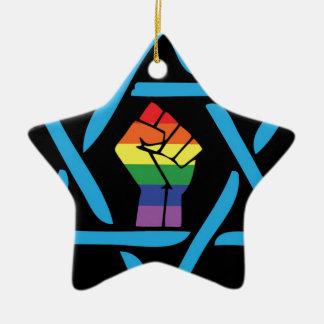 Homosexuelles schwarzes jüdisches keramik ornament